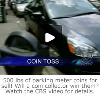 Click to watch a CBS news video of the New York City parking meter coin story.