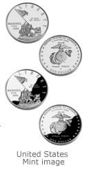 United States Marine Corps 230th Anniversary Silver Dollar Image