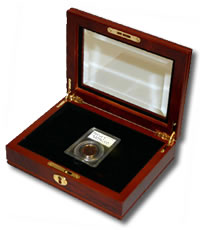 An example of a coin gift case