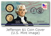 2007 Jefferson $1 Coin Cover