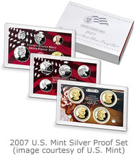 Modern proof coins come within plastic cases or holders for protection