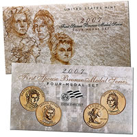 First Spouse Four Medal Set is available from the United States Mint. The price is 12.95.