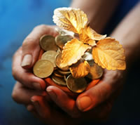 Coins of gold shared through generous donations