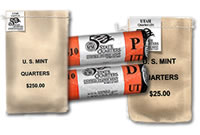 These Utah state quarter two-set rolls and bags are available for order now at the United States Mint website