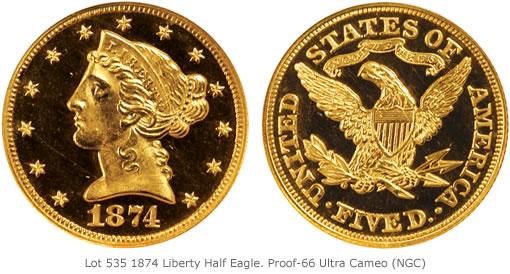 Lot 5351874 Liberty Half Eagle. Proof-66 Ultra Cameo (NGC)