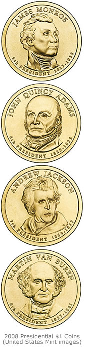 The 2008 Presidential $1 Coins