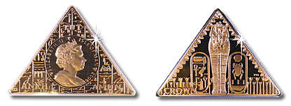 Isle of Man: World's first pyramid coin