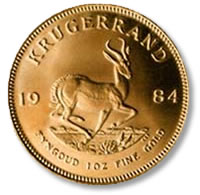 The South African Krugerrand tops in popularity for gold coins donated
