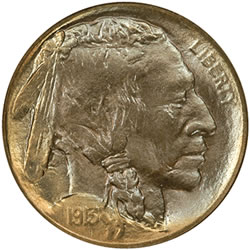 1913-D Type II Buffalo Nickel (Obverse) Certified MS-68 by NGC with a combined PCGS and NGC population of 1/0