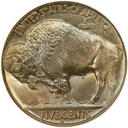 1913-D Type II Buffalo Nickel (Reverse) Certified MS-68 by NGC with a combined PCGS and NGC population of 1/0