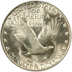 1927-S Standing Liberty Quarter (Reverse) certified MS-65 Full Head by PCGS