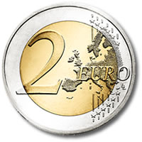 The coin counterfeited the most was the 2-euro