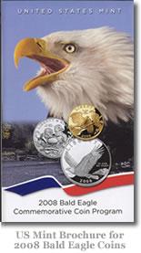 US Mint Brochure for 2008 Bald Eagle Coins