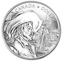 Brillant 400th Anniversary Quebec City Silver Dollar (Reverse)