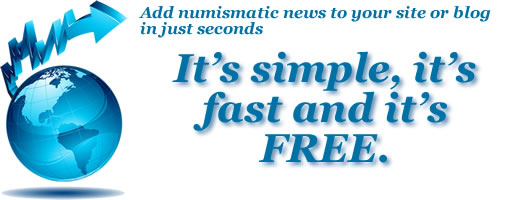 Add numismatic news to your site or blog in just seconds