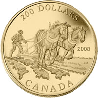 Agriculture Trade $200 Gold Coin (Reverse)