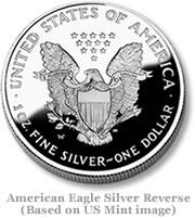 American Eagle Silver Reverse