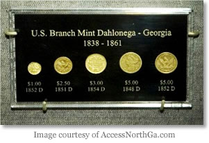 Branch Mint Dahlonega Coin Set (Image courtesy of AccessNorthGa.com)