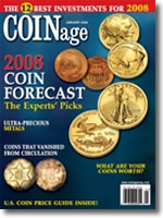 January 2008 COINage Magazine cover
