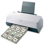 Inkjet printers were used to counterfeit money