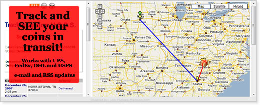 Tracking Coins and Packages – Travel Tracking Map
