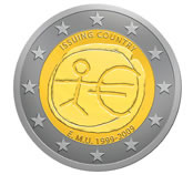 Commemorative 10th Anniversary 2-euro Coin Design