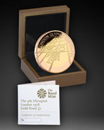 2008 4th Olympiad London Anniversary £2 Gold Proof