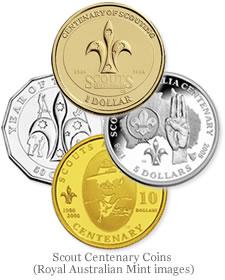 Australian Scout Centenary coins