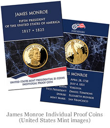 James Monroe Individual Proof Coins