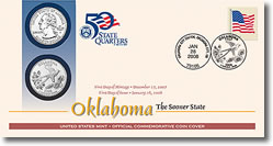Oklahoma First Day Coin Covers