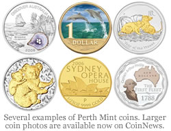 Perth Mint coin photo examples