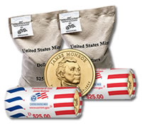 James Monroe Presidential $1 Dollar Coins Enter Circulation, Bags and Rolls for Sale