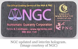 NGC updated and interim hologram. (image courtesy of NGC)