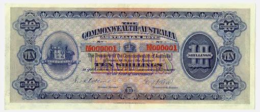 1913 Ten Shilling banknote