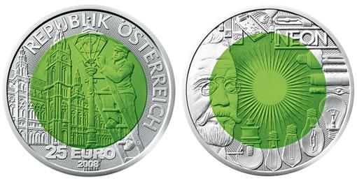 2008 Austrian Silver-Niobium Coin