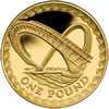 25th Anniversary £1 Gold Gateshead Millennium Bridg