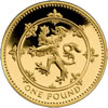 25th Anniversary £1 Gold Lion Rampant