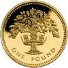 25th Anniversary £1 Gold Oak Tree