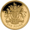 25th Anniversary £1 Gold Proof Royal Arms