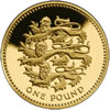 25th Anniversary £1 Gold Three Lions