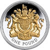 25th Anniversary £1 Silver Proof Royal Arms