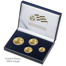 4-coin American Eagle Gold Uncirculated Presentation Case