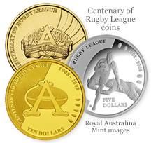 Australian Centenary of Rugby League Coins