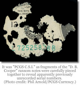 D.B. Cooper banknote fragments