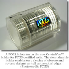 PCGS roll hologram