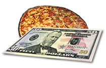 Pizza with $50 toppings