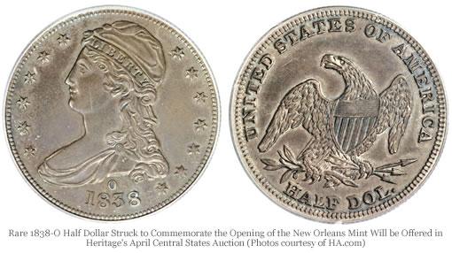 Rare 1838-O Half Dollar