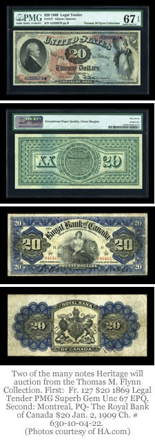 Two Thomas M. Flynn Collection Notes