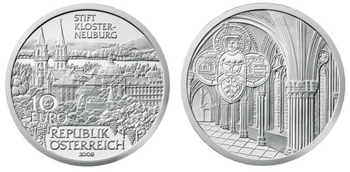 "Austrian 10 euro Silver ""The Abbey of Klosterneuburg"" Coin"