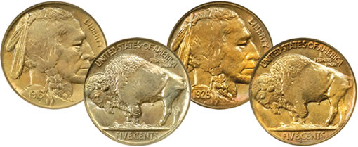 1916 Doubled Die Buffalo Nickel and 1926-S Buffalo Nickel coins